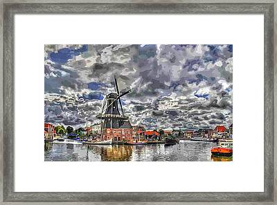 Old Windmill On The Shore Framed Print by Maciek Froncisz