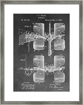 Old Windmill Patent Framed Print by Dan Sproul
