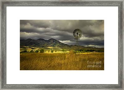 Old Windmill Framed Print