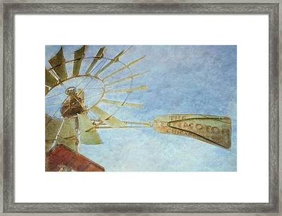 Old Windmill Framed Print by TK Goforth