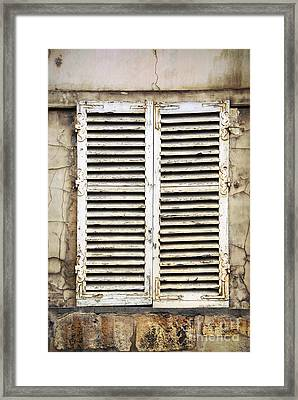 Old Window Framed Print by Elena Elisseeva