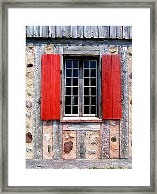 Framed Print featuring the photograph Old Window Fort Michilimackinac Michigan by Mary Bedy