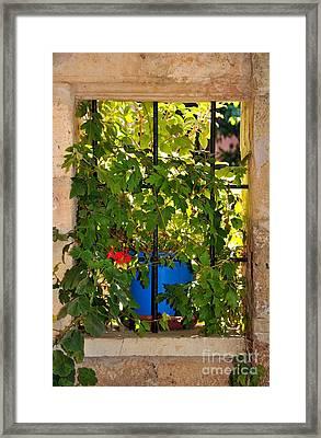 Old Window Framed Print by George Atsametakis