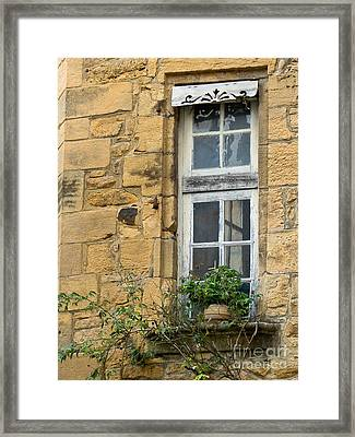 Framed Print featuring the photograph Old Window In France by Paul Topp