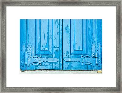 Old Window Shutters Framed Print by Tom Gowanlock