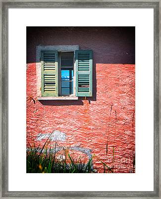 Framed Print featuring the photograph Old Window With Reflection by Silvia Ganora
