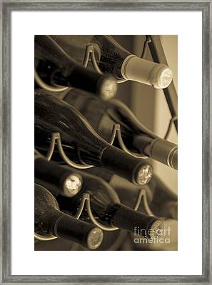 Old Wine Bottles Framed Print