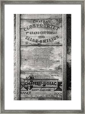 Old Wine Crates Framed Print by Georgia Fowler