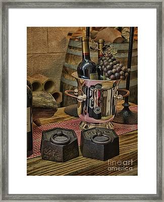 Old Wine Framed Print by Gillian Singleton