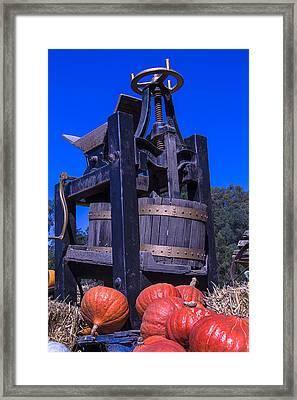 Old Wine Press Framed Print by Garry Gay
