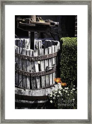 Old Wine Press  Framed Print by George Oze