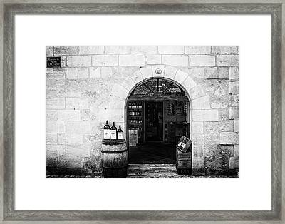 Old Wine Shop Framed Print by Georgia Fowler