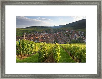 Old Wine Town Of Riquewihr Framed Print