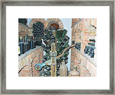 Old Winemaking Stuff In Castello Di Amorosa In Napa Valley-ca Framed Print by Ruth Hager