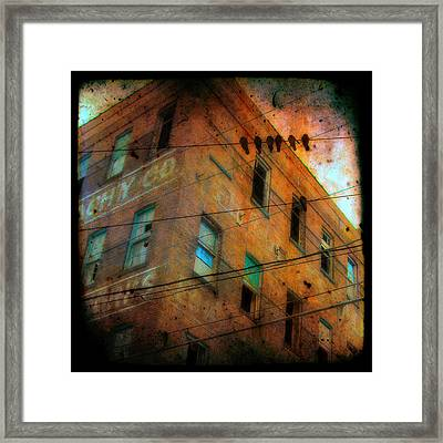 Old Wires Framed Print by Gothicrow Images