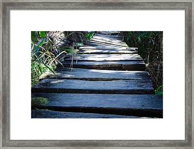 Old Wodden Bridge Framed Print by Aged Pixel