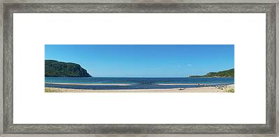 Old Woman Bay In Lake Superior Framed Print