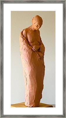Old Woman Framed Print by Deborah Dendler