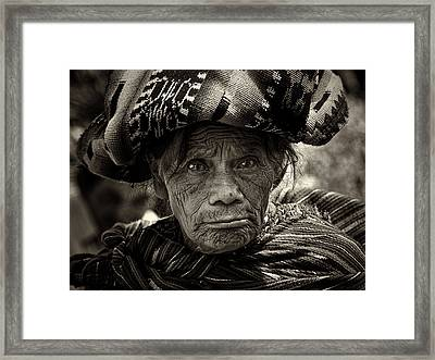 Old Woman Of Chichicastenango Framed Print by Tom Bell