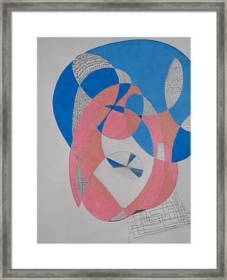 Old Woman Zantangle Framed Print