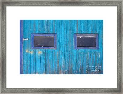 Old Wood Blue Garage Door Framed Print by James BO  Insogna