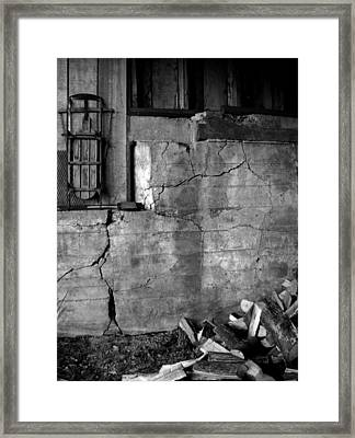 Old Wood Shed Framed Print