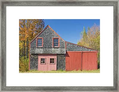 Old Wood Shingle Shed Framed Print by Keith Webber Jr