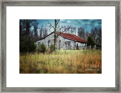 Old Wooden Barn Framed Print by Betty LaRue