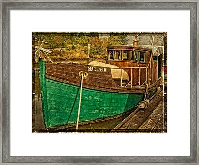 Old Wooden Boat On The Yaquina Framed Print by Thom Zehrfeld