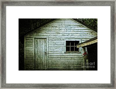 Old Wooden Building Onaping Framed Print by Marjorie Imbeau