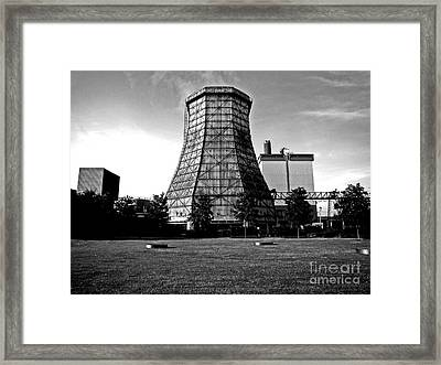 Old Wooden Cooling Tower Framed Print by Andy Prendy