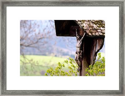 Old Wooden Crucifix  Framed Print