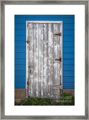 Old Wooden Door Framed Print by Elena Elisseeva