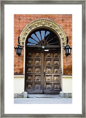 Old Wooden Door Framed Print by Newnow Photography By Vera Cepic