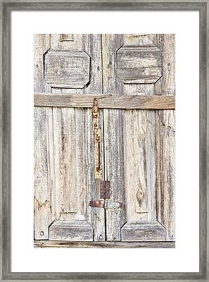 Old Wooden Doorway Framed Print by Tom Gowanlock