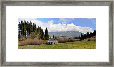 Old Wooden Home On A Mountain, Slovakia Framed Print