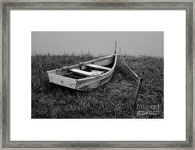 Old Wooden Rowboat II Framed Print by Dave Gordon