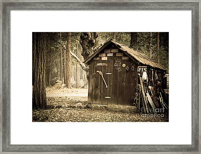 Old Wooden Shed Yosemite Framed Print by Jane Rix