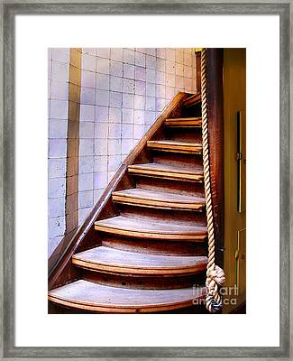 Old Wooden Stairs Framed Print