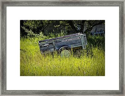 Old Wooden Wagon Framed Print