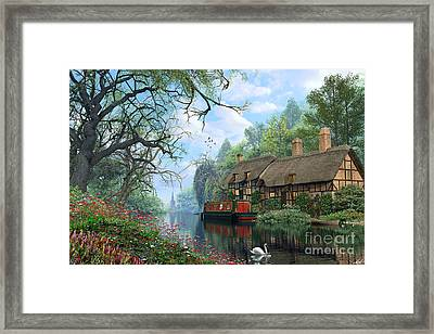 Old Woodland Canal Framed Print by Dominic Davison