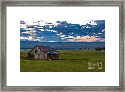 Old Working Barn Framed Print by Robert Bales