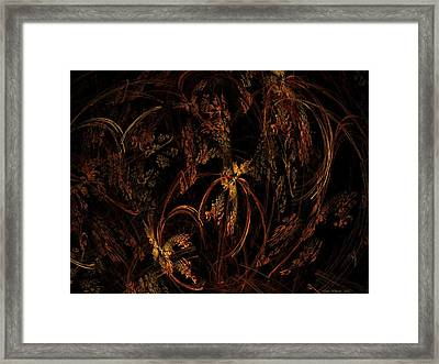 Old World Floral Framed Print