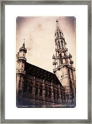 Old World Grand Place Framed Print by Carol Groenen