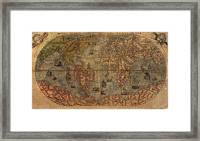 Old World Map Framed Print by Dan Sproul