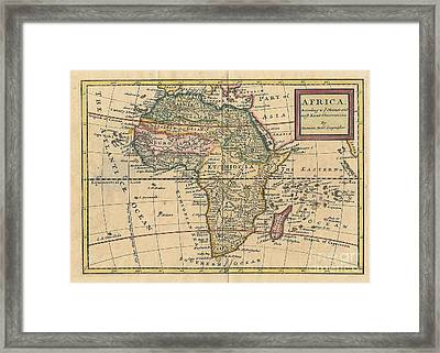 Old World Map Of Africa Framed Print by Inspired Nature Photography Fine Art Photography