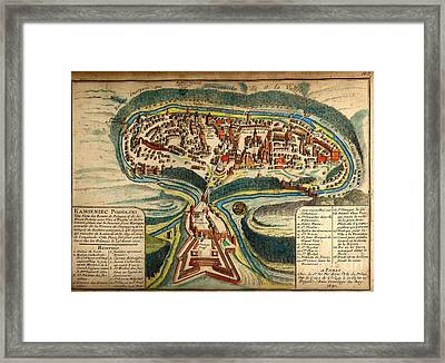 Old World Map Year 1691 Framed Print