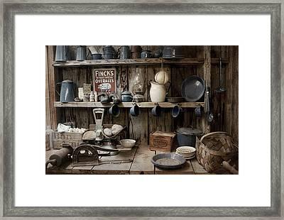 Old World Pantry Framed Print by Chrystyne Novack