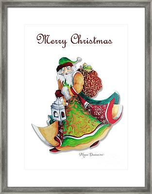Old World Santa Christmas Art Original Painting By Megan Duncanson Framed Print by Megan Duncanson