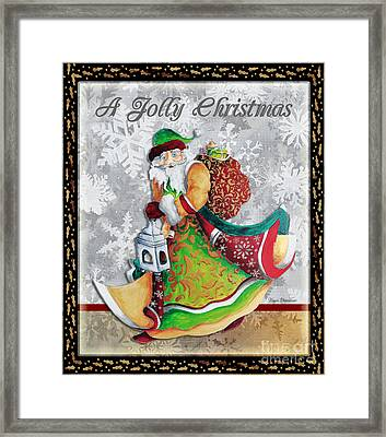 Old World Santa Clause Christmas Art Original Painting By Megan Duncanson Framed Print
